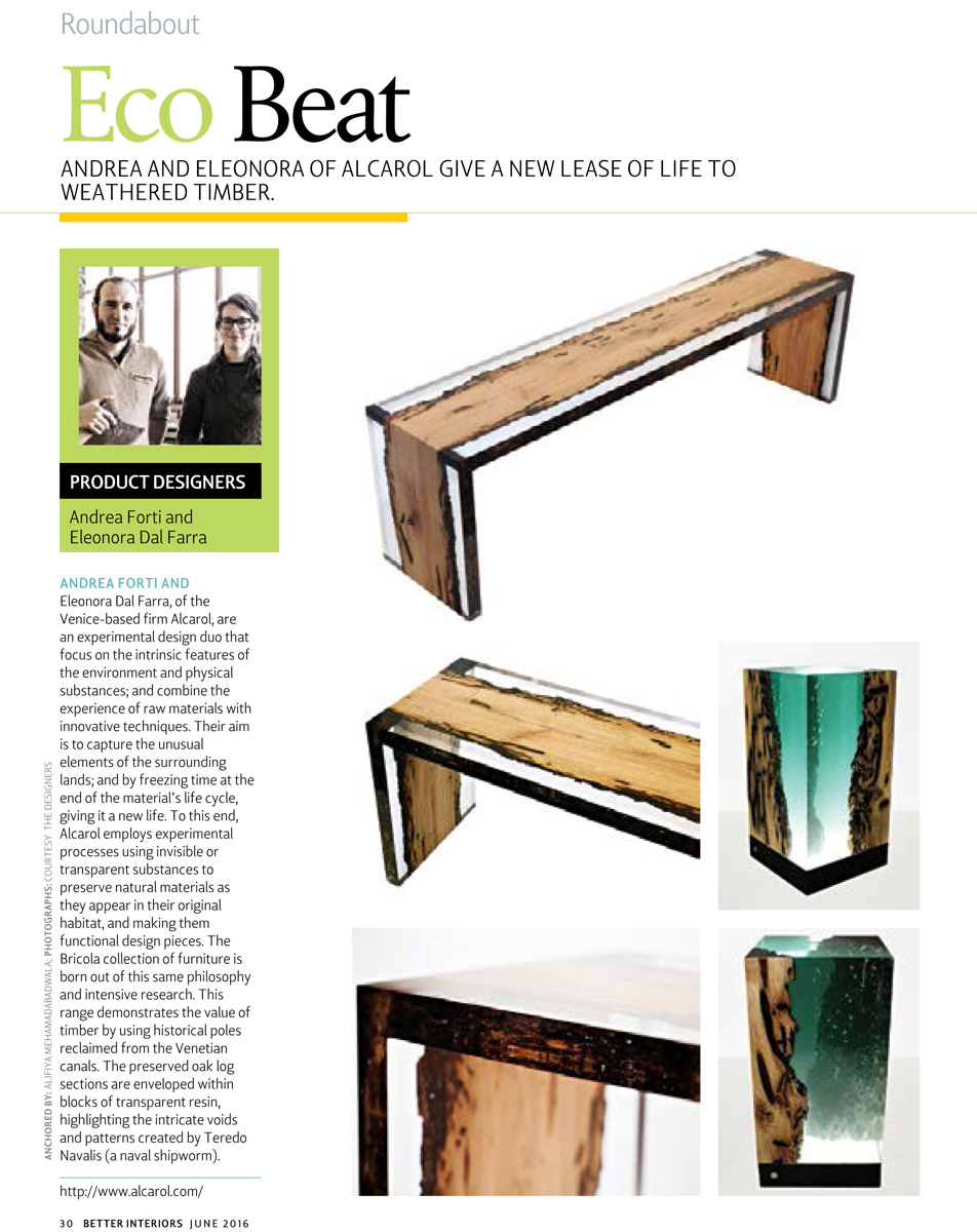 alcarol-Better Interior EcoBeat-India-Bent Bench-June 2016